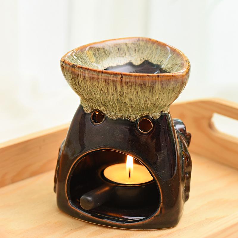 Duftöl Für Kerzen.Duftlampe Keramik Für Duftöl Kerze Dunkel Handgefertigt